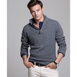 Lambs Wool 1/2 Zip Sweater